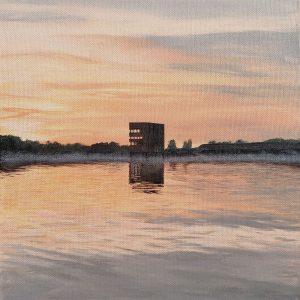 Am Wasser | Acryl auf Leinwand | 35 x 35 cm | 2019