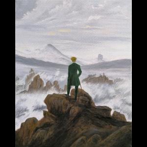 Der Wanderer über dem Nebelmeer Acryl auf Leinwand | 50 x 60 cm | 2019
