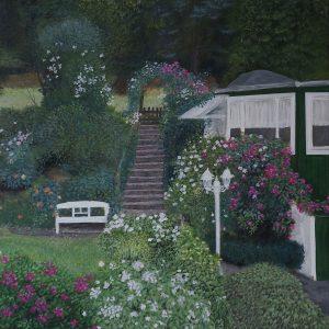Garden | Acryl auf Leinwand | 40 x 40 cm | 2019