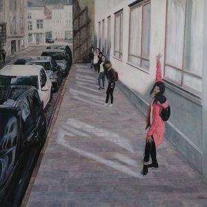 Girls on tour | Acryl auf Leinwand | 100 x 100 cm | 2019