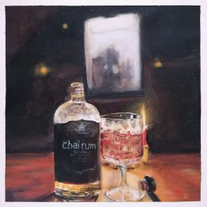 Rum | Acryl auf Leinwand | 20 x 20 cm | 2020